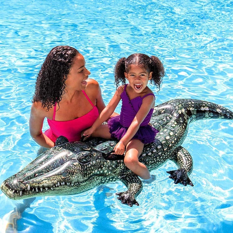 Swim Giocattoli Gonfiabili Zattera in Pvc Gonfiabile Gonfiabile Fila Coccodrillo Realistico Equestre Abilità Equitazione Gree per Bambini tutti'Aperto Gonfiabile tuttia Deriva Fila Coccodrillo Fila Gal