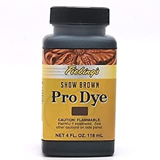 Fiebing's Professional Leather Oil Dye - 4 Ounces, Show Brown