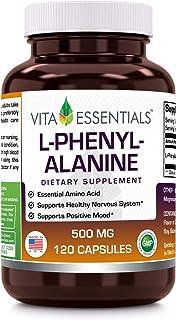 Vita Essentials L-phenylalanine 500 Mg Capsules, 120 Count