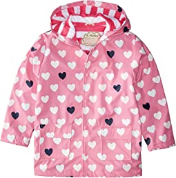Color Changing Lovely Hearts Raincoat (Toddler/Little Kids/Big Kids)