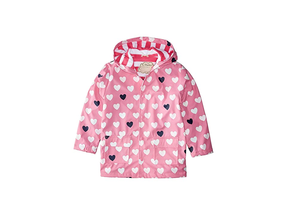 Hatley Kids - Hatley Kids Color Changing Lovely Hearts Raincoat