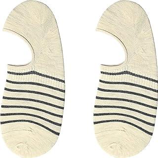 Our Peaches 4 pares de calcetines a rayas a cuadros de los hombres Low Cut No Show Calcetines deportivos Invisible Transpirable Algodón Calcetines de barco