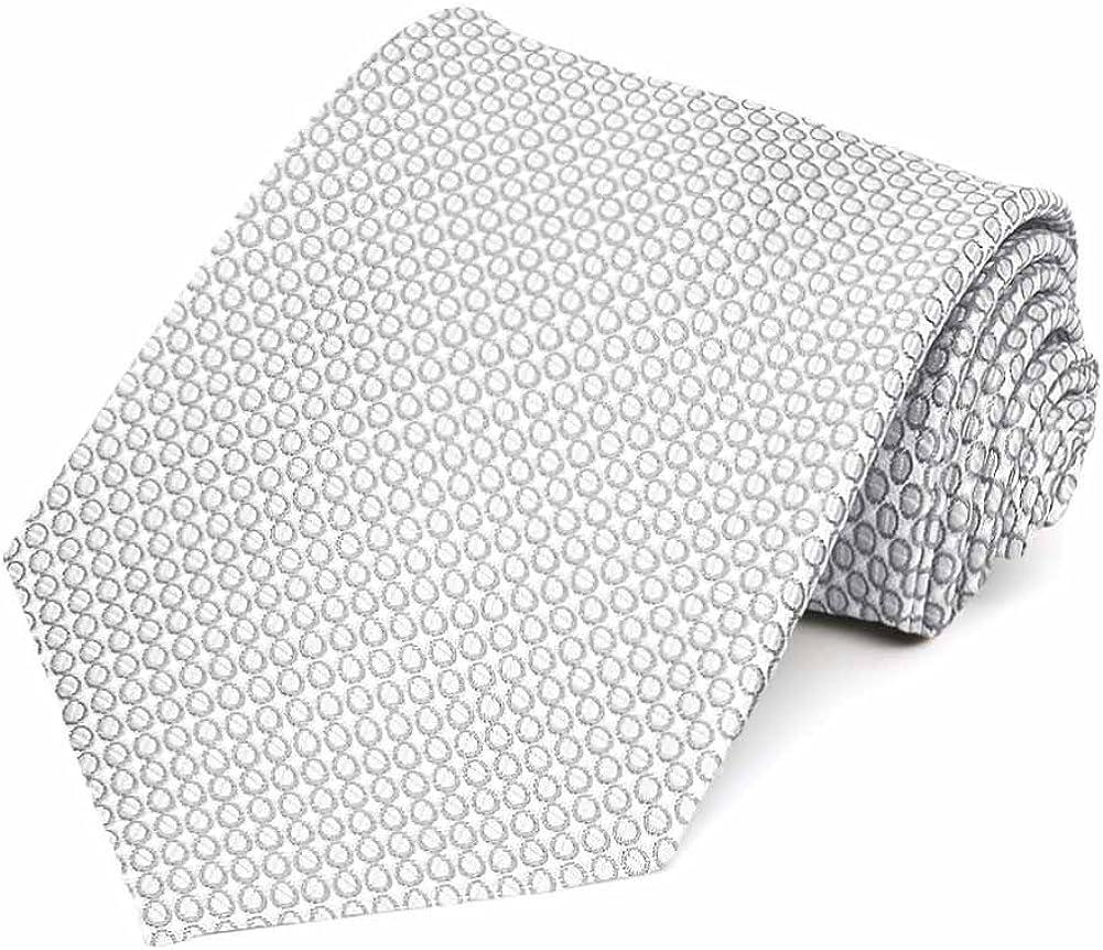 TieMart Soft Gray Henry Grain Pattern Necktie