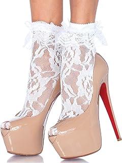 Leg Avenue Women's Ruffle Cup Lace Anklet Socks