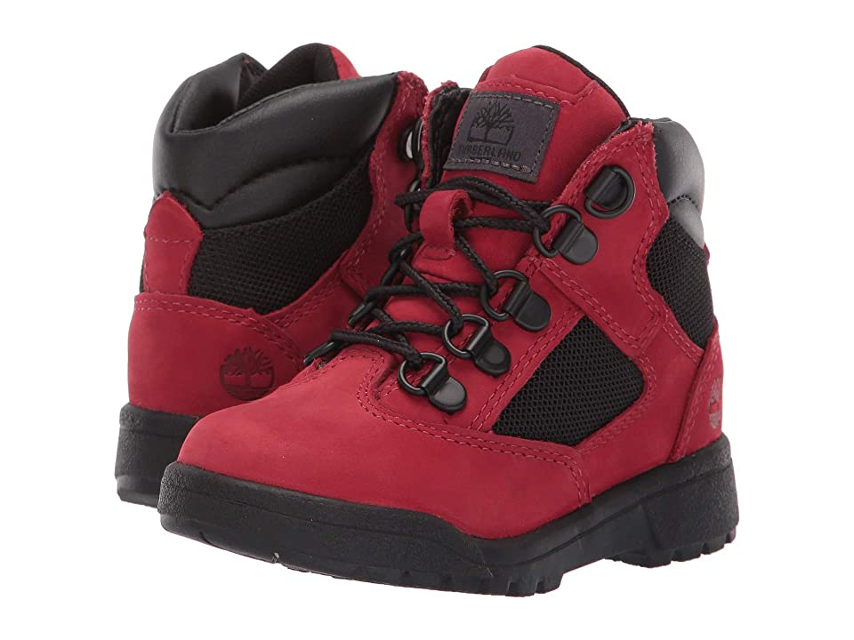 Timberland Kids 6 Fabric/Leather Field Boot (Toddler/Little Kid) (Red Waterbuck) Boys Shoes