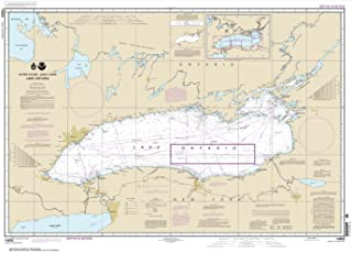 Paradise Cay Publications NOAA Chart 14800: Lake Ontario, 29.5 X 41.1, TRADITIONAL PAPER