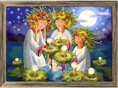ArtzFolio Midsummer Day Tabletop Painting Antique Golden Frame 13.5 X 10Inch