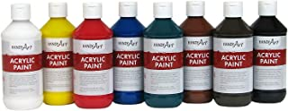 Handy Art 881020 8 color - 8 ounce Primary Acrylic Paint Set Assorted