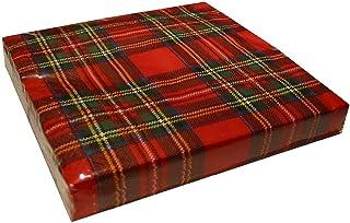 Black Watch & Royal Stewart - Tovaglioli di carta da tavola, motivo: tessuto tartan, confezione da 20 Royal Stewart