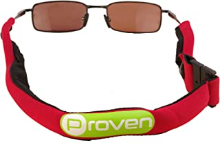 Premium Floating Sunglass Strap; Highly Visible Neoprene Sunglass Holder that Floats; Suitable for Men, Women and Kids (Red)