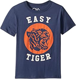 Extra Soft Cotton Easy Tiger Print Short Sleeve Tee (Little Kids/Big Kids)