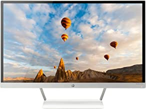 HP 27er 27-Inch Full HD 1080p IPS LED Monitor with Frameless Bezel and VGA & HDMI (T3M88AA), White