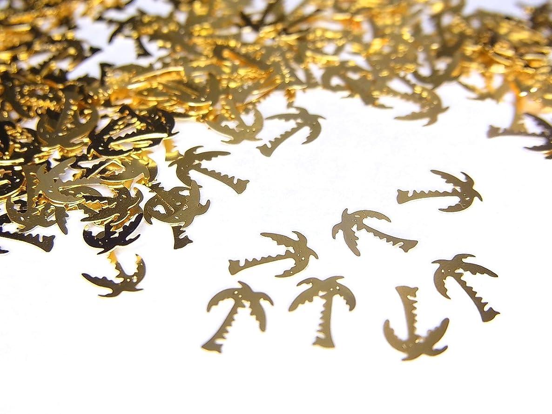 因子ルーフグリーンバック【jewel】薄型ネイルパーツ ゴールド ヤシの木10個
