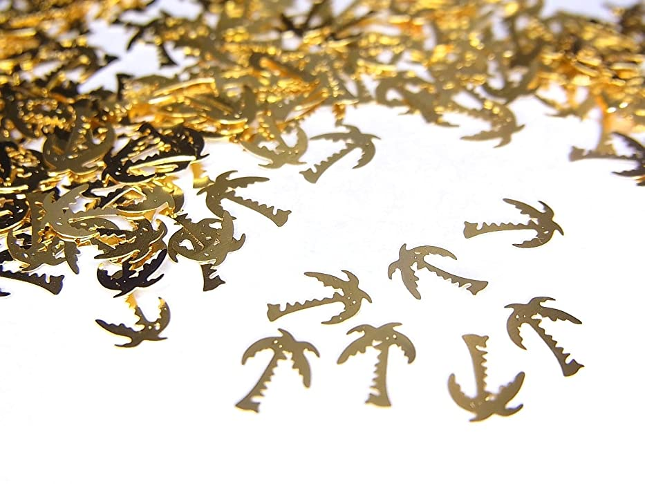 切手驚き郵便物【jewel】薄型ネイルパーツ ゴールド ヤシの木10個