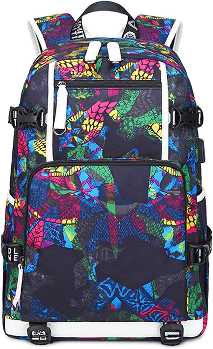 Street Style Oxford School Bags USB Wat Max 84% shipfree OFF Laptop CHARGING Backpack
