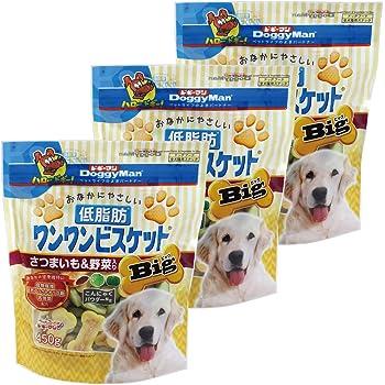 ドギーマン 犬用おやつ おなかにやさしい低脂肪ワンワンビスケット Big 野菜 450g×3個 (まとめ買い)