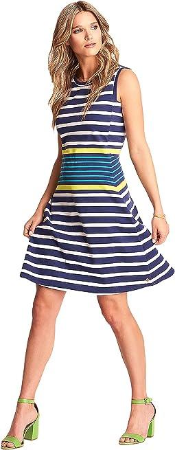 Sarah Dress - Navy Stripes
