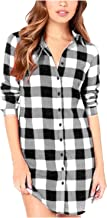 ZANZEA Women Blouses Tops Buffalo Check Plaid Long Sleeve Collar Neck Casual Button Down Shirts
