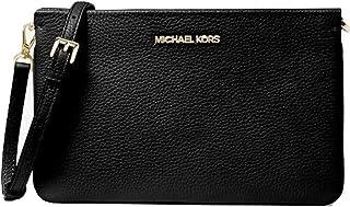 Michael Kors Jet Set Large Pebbled Leather Crossbody Bag Black