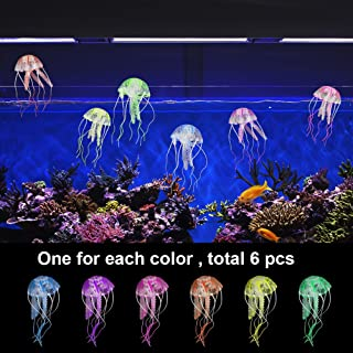 6 PCs Artificial Jellyfish ,  Jewelvwatchro Artificial Jellyfish Ornament for Aquarium Fish Tank