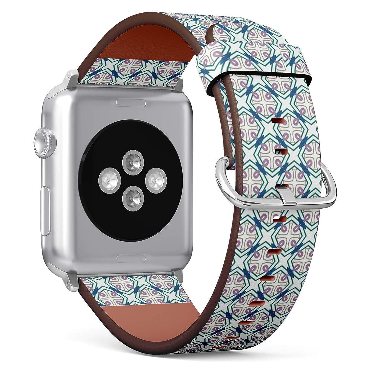 ワークショップ第去るコンパチブル Apple Watch iWatch 42mm & 44mm - 本革レザーストラップ, 向けのバンド交換ストラップです コンパチブル アップルウォッチ バンド (テクスチャ)