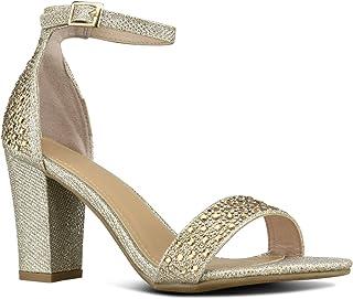 571c888081e7 Premier Standard Women s Strappy Chunky Block High Heel - Formal