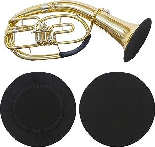 PlutuX 2 pièces couverture de cloche d'instrument housse anti-poussière élastique réutilisable idéale pour clarinette téno...