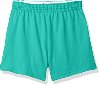 girls green pe shorts