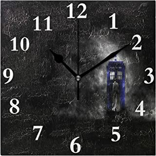 coconice Silent Wall Clock Doctor Who HD Silent Wallpapers for Home/Office/Kitchen/Bedroom/Living Room 7.877.87Inch