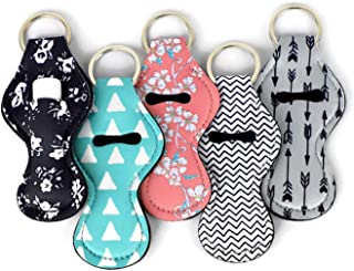 Cool Chapstick Holder Lanyard Keychain (5 Pack) Neoprene Chapstick Holder Keychain to..