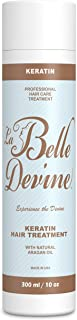 Keratin Hair Treatment Brazilian Straightening Formula by La Belle Devine, Glamour Keratin to Straighten Hair with Argan O...