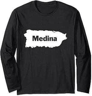 Medina Last Name, Camisas de Puerto Rico Long Sleeve T-Shirt