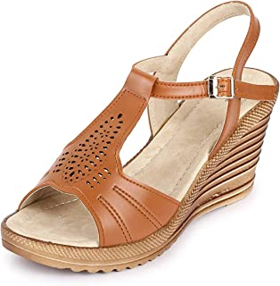 TRASE Caspia Wedges for Women - 3 Inch Heel
