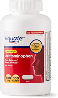 Equate Extra Strength Acetaminophen 500mg 500 Count Caplets