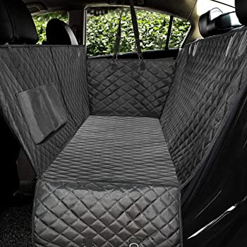 Honest Luxury Quilted Dog Car Seat Covers with Side Flap Pet Backseat Cover for Cars, Trucks, and Suv's - Waterproof & Nonslip Dog Seat Cover