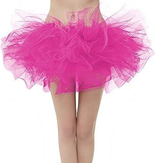 GirstunmBrand Gonna da donna 50 mini tulle tutu puffy balletto Bubble Rock