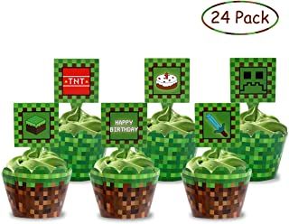 picture regarding Printable Minecraft Cupcake Toppers named : minecraft cupcake