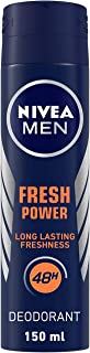 NIVEA Men Deodorant, Fresh Power, 48h Long lasting Freshness with Fresh Musk Scent, 150 ml