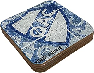 Azty Designs Personalized Custom Wood Coaster Glossy Argentina Futbol Football Soccer League