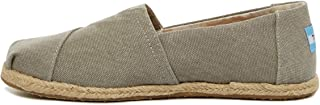 TOMS Seasonal Classics Drizzle Grey Washed Canvas Rope Sole 5.5 B (M)