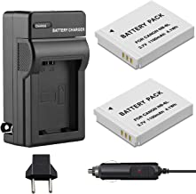 Venwo 2 Pack NB-6L/NB-6LH Battery and Charger kit for Canon PowerShot SX540 HS, SX530 HS, SX520 HS, SX510 HS, SX500 HS, SX170 is,SX700 HS, SX710 HS,SX610 HS, SX600 HS, S120, D20, D30, S90, ELPH 500