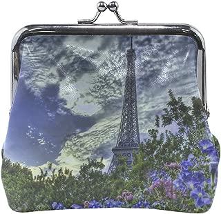 Your Home Coin Purse Paris France Eiffel Tower Flowers Sky Hdr Print Wallet Exquisite Clasp Coin Purse Girls Women Clutch Handbag