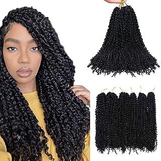 6 packs Black Passion Twists Haarverlenging voor zwarte meisjesvrouwen, 20 inch (51 cm) Modieus synthetisch gehaakt haar