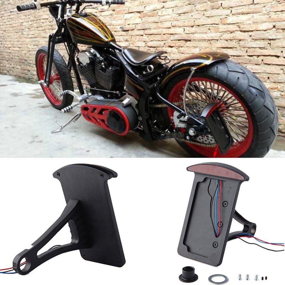 Safety and trust Motorcycle Bobber Custom Side Mount Brake Frames Plate T License favorite