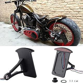 Motorcycle Bobber Custom Side Mount License Plate Frames Brake Tail Light Chrome