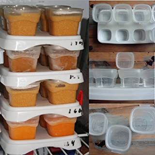Saver 8x70ml Baby Weaning Food Freezing Cubes Feeding Pots Tray Storage Gruel Rice BPA Free Containers Box