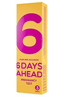 6 Days Ahead Pregnancy Test - 3 Pregnancy Tests (10mIU/ml) - Early Detection: as Early as 6 Days Before Your Missed Period - Over 99% Accurate on The Expected Period - One Step HCG Urine Tests