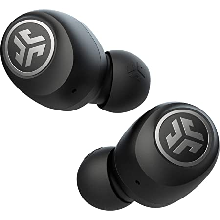 JLab Go Air Wireless Earphones, True Wireless Ear Buds with USB Charging Case, Bluetooth Earbuds with Dual Connect and Custom EQ3 Sound - Cordless In Ear Earphones with Microphone, Black