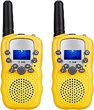 Romacci Walkie Talkies adulto infantil rádio de 2 vias com lanterna de longo alcance 0,5 W 22 Canal para atividades ao ar ...