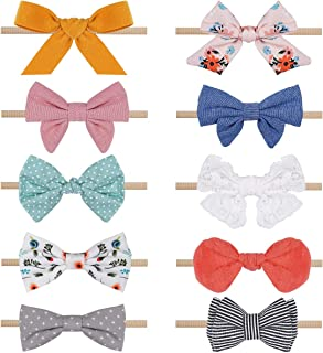 Baby Girl Headbands and Bows,Nylon Hair Accessories for Newborn, Little Girls